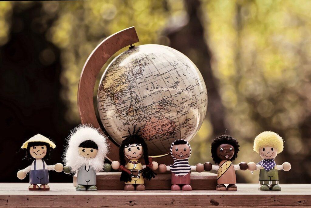 different nationalities, children, human