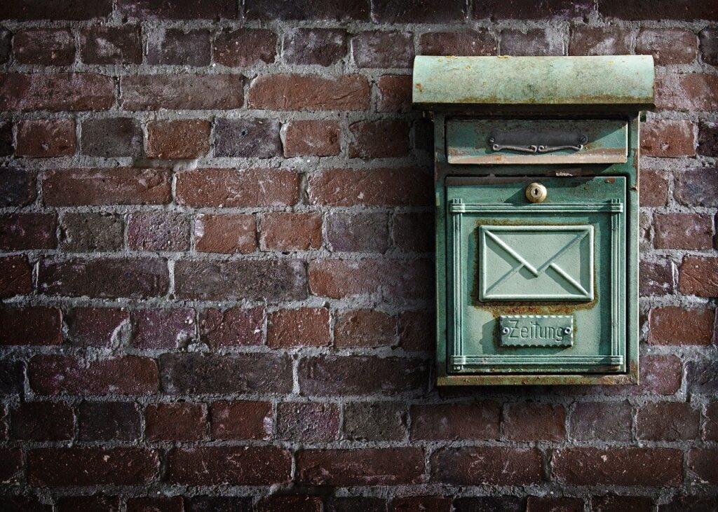 mailbox, wall, post